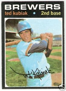 Ted Kubiak baseball card