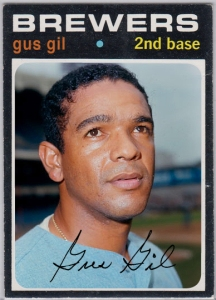 Gus Gil's Brewers baseball card