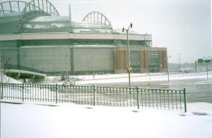 Snowy Miller Park 1 - Indians game