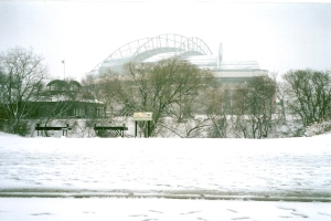 Snowy Miller Park 2 - Indians game