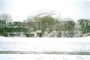 Snowy Miller Park 2 - Indians game