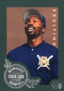 One of Carr's baseball cards