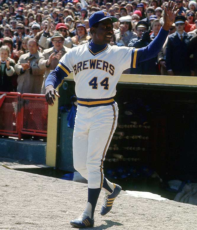 Image result for brewers hank aaron