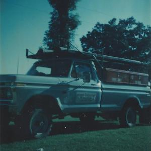 One of Dad's construction trucks