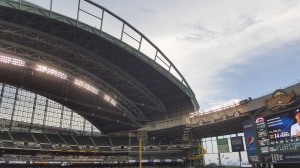 Closing the roof near the end of the final home game due to a rain threat