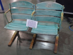 Original 1950's Milwaukee County Stadium seats