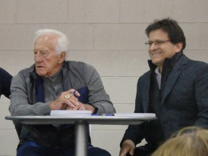 Bob Uecker and Brewers owner Mark Attanasio