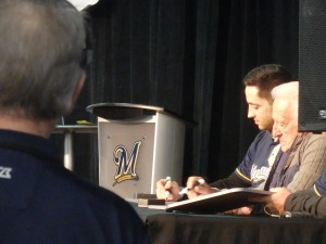 """Milwaukee Match"" panelists Ryan Braun and Bob Uecker"